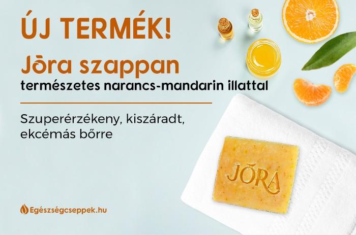 Jōra Beauty Natúr Kézzelgyártott Narancs-Mandarin Illatú CBD Tartalmú Szappan